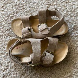 Zara Suede Sandals